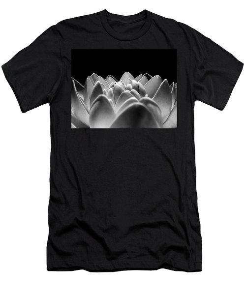 White Lotus In Night Men's T-Shirt (Slim Fit) by Sumit Mehndiratta