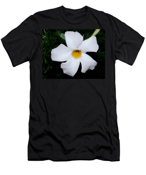 White Mandevilla Men's T-Shirt (Athletic Fit)