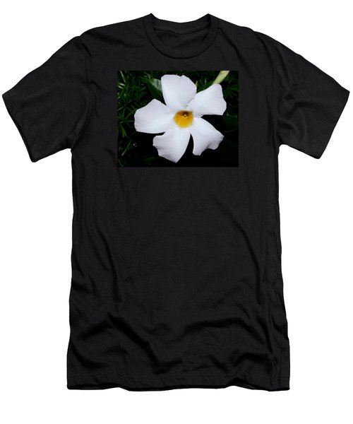 White Mandevilla Men's T-Shirt (Athletic Fit)