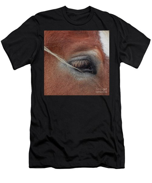 White Mane's Eye Men's T-Shirt (Athletic Fit)