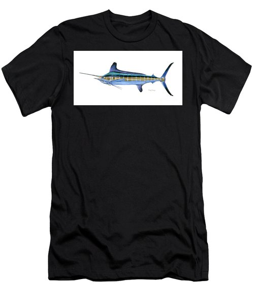White Marlin Men's T-Shirt (Athletic Fit)
