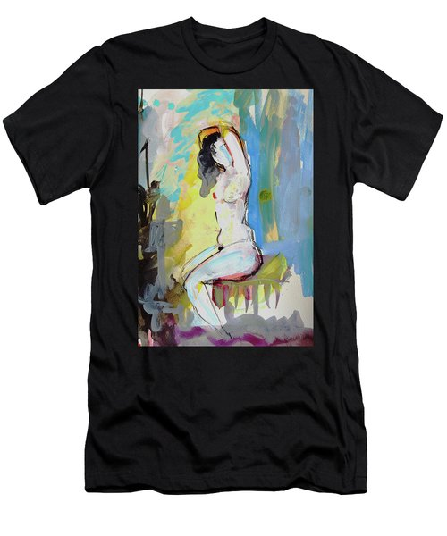 White Nude And Bird Men's T-Shirt (Athletic Fit)
