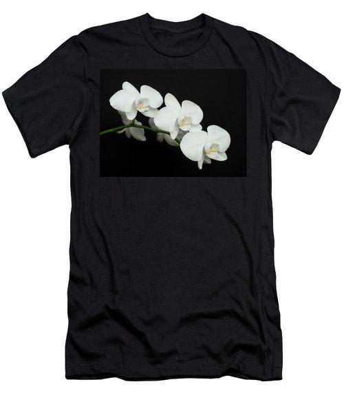 White On Black Men's T-Shirt (Athletic Fit)