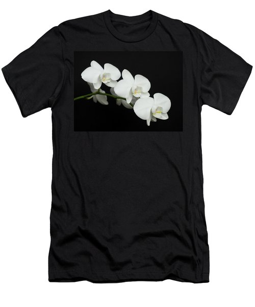 Men's T-Shirt (Athletic Fit) featuring the photograph White On Black by Denise Bird