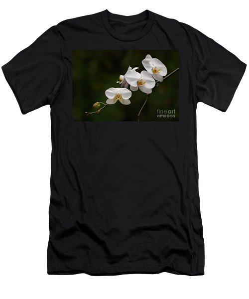 White Orchids Men's T-Shirt (Athletic Fit)
