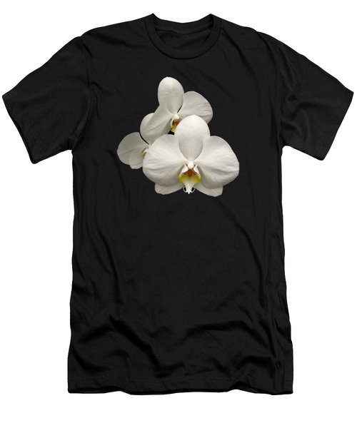 White Orchids Men's T-Shirt (Slim Fit) by Rose Santuci-Sofranko