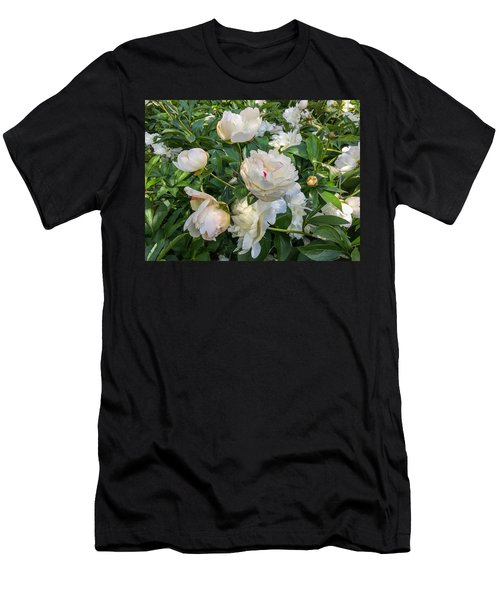 White Peonies In North Carolina Men's T-Shirt (Athletic Fit)