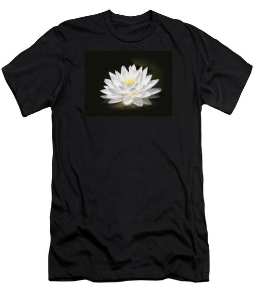 White Petals Glow - Water Lily Men's T-Shirt (Athletic Fit)