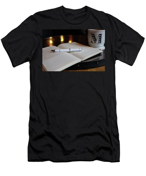 Men's T-Shirt (Athletic Fit) featuring the photograph White Pilot Prera by Monte Stevens
