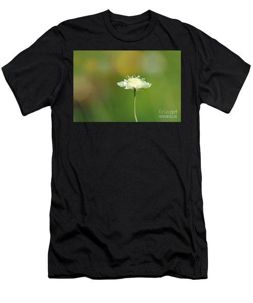 White Pincushion Flower Men's T-Shirt (Athletic Fit)