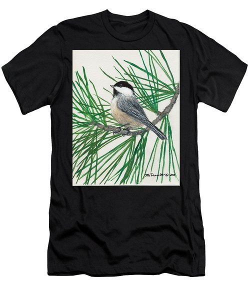 White Pine Chickadee Men's T-Shirt (Athletic Fit)
