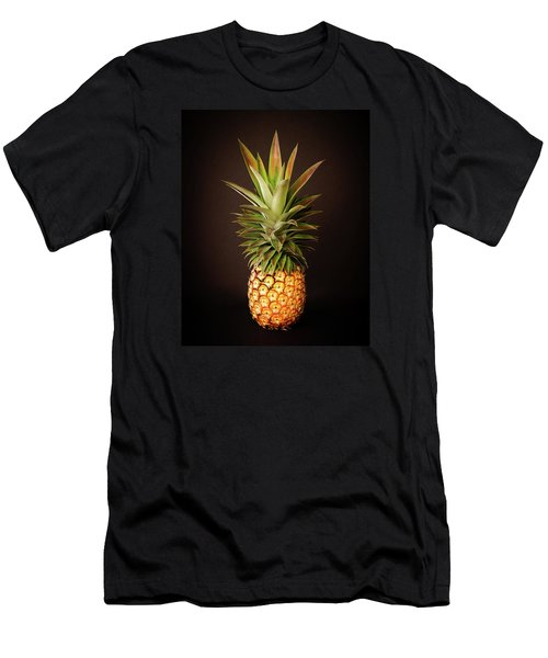 White Pineapple King Men's T-Shirt (Athletic Fit)