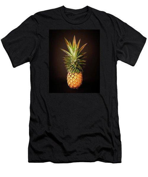 White Pineapple King Men's T-Shirt (Athletic Fit)