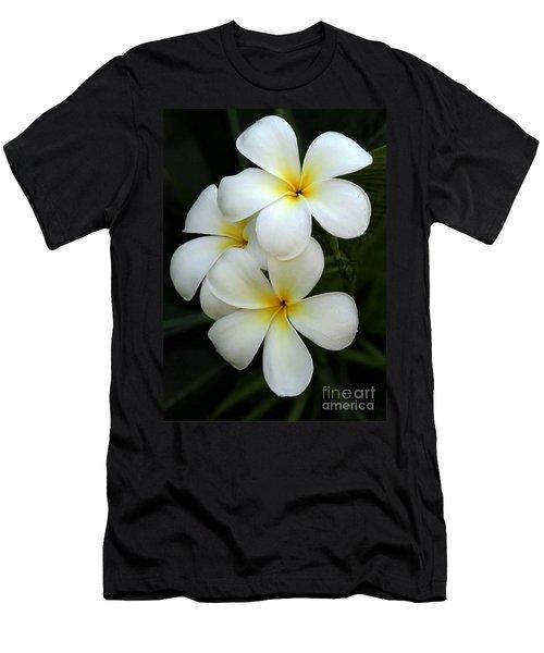 White Plumeria Men's T-Shirt (Athletic Fit)