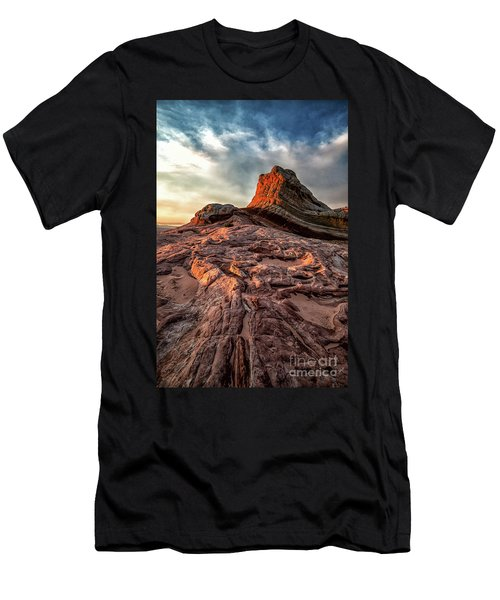 White Pocket Inside Vermillion Cliffs National Monument Men's T-Shirt (Athletic Fit)