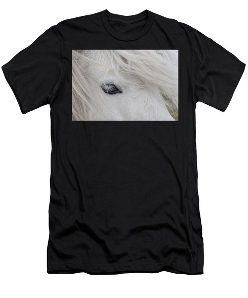 White Pony Men's T-Shirt (Athletic Fit)