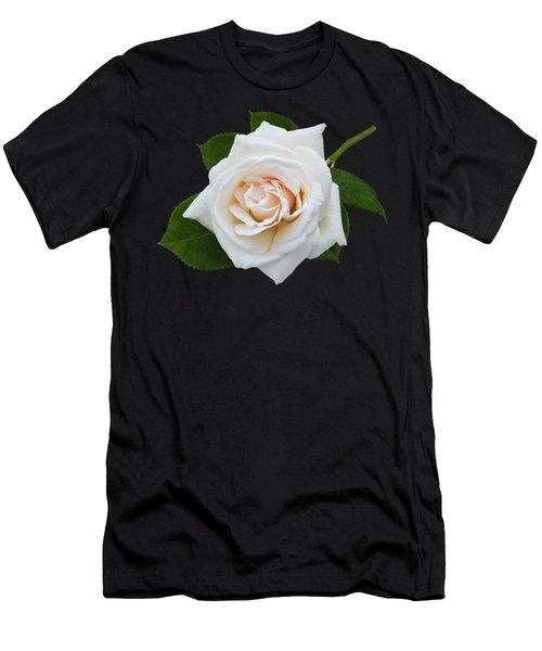 White Rose Men's T-Shirt (Slim Fit) by Jane McIlroy