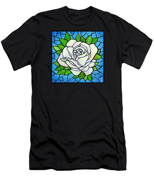 White Rose  Men's T-Shirt (Slim Fit) by Jim Harris