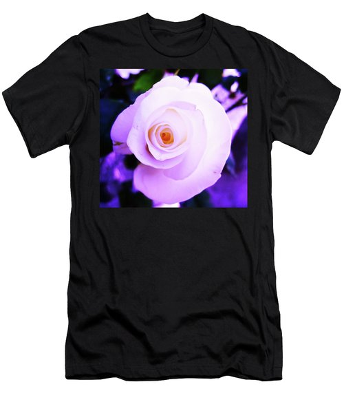 White Rose Men's T-Shirt (Slim Fit) by Mary Ellen Frazee