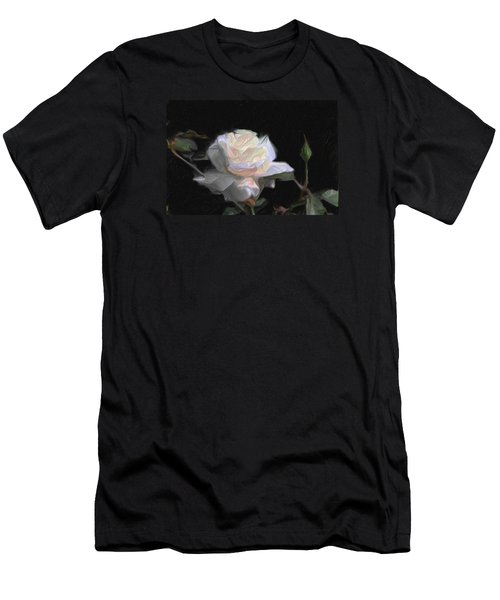White Rose Painting Men's T-Shirt (Slim Fit) by Don  Wright