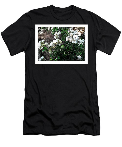 Men's T-Shirt (Slim Fit) featuring the photograph White Roses by Joan  Minchak