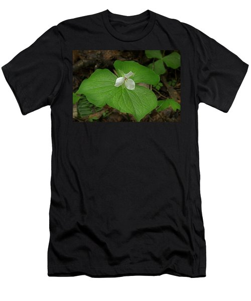 Men's T-Shirt (Slim Fit) featuring the photograph White Spring Trillium by Mike Eingle