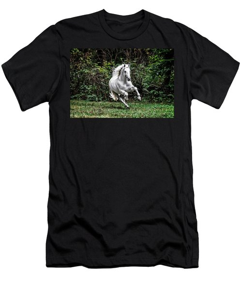 White Stallion Men's T-Shirt (Athletic Fit)
