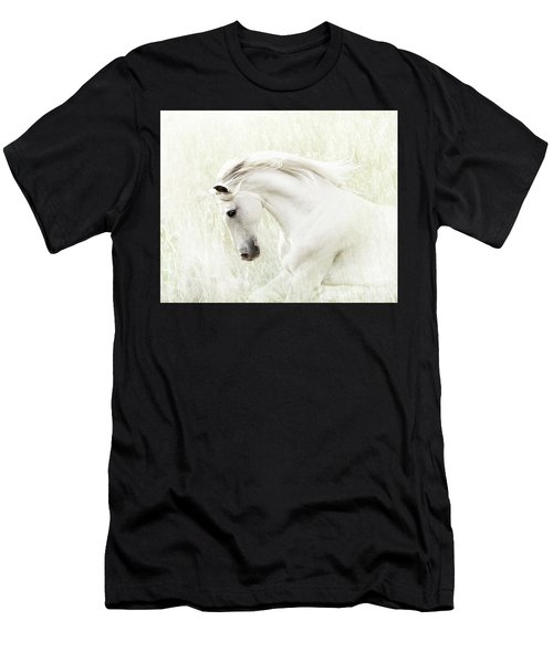 Men's T-Shirt (Athletic Fit) featuring the digital art White Stallion by Melinda Hughes-Berland