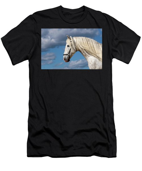 White Stallion Men's T-Shirt (Athletic Fit)