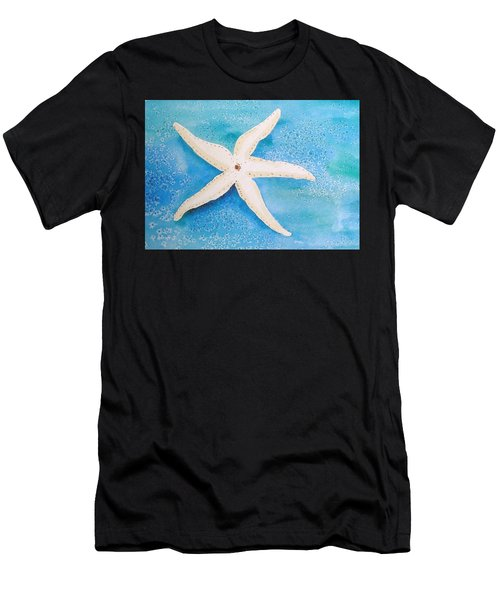 White Starfish Men's T-Shirt (Athletic Fit)