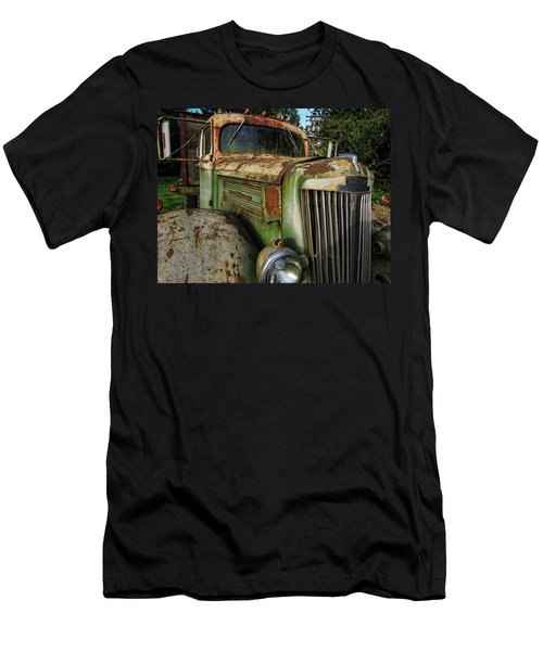 White Super Power Truck Men's T-Shirt (Athletic Fit)