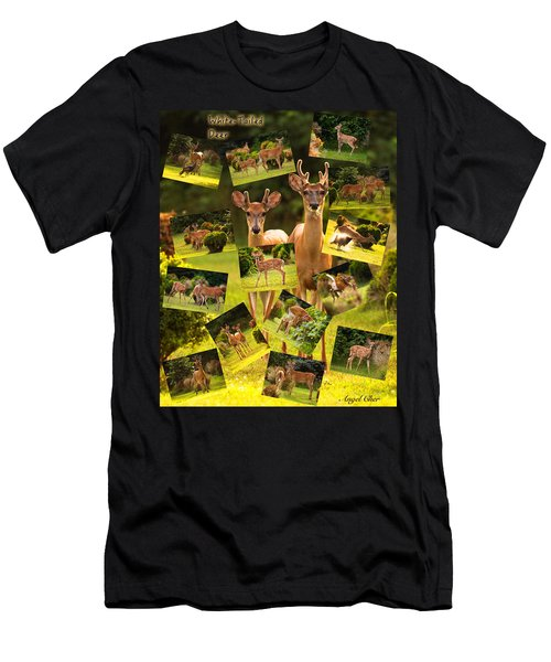 Men's T-Shirt (Athletic Fit) featuring the photograph White-tailed Collage by Angel Cher