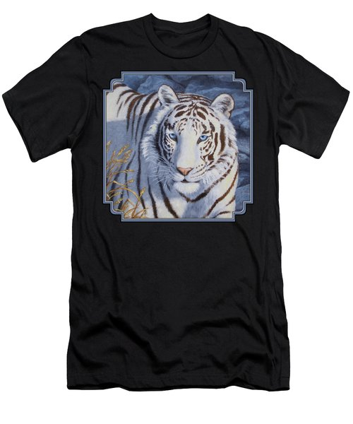 White Tiger - Crystal Eyes Men's T-Shirt (Athletic Fit)