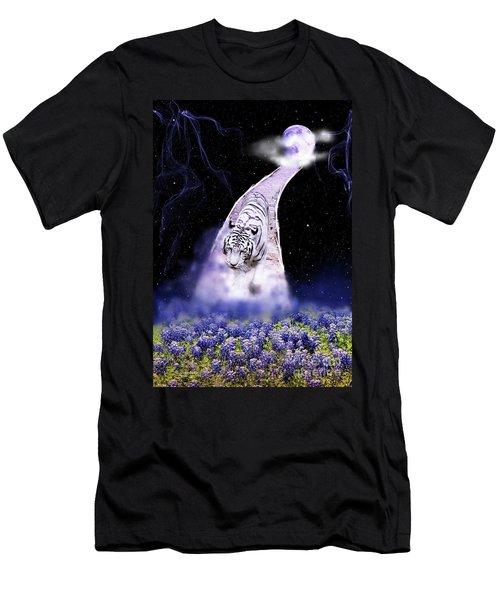 White Tiger Fantasy Men's T-Shirt (Athletic Fit)