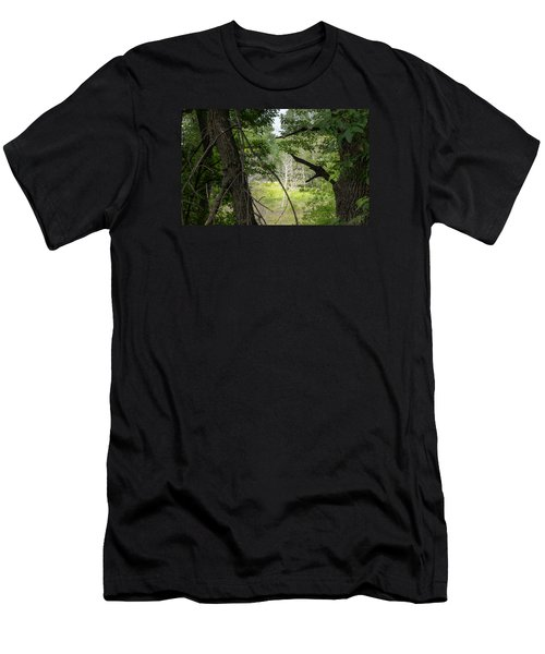 White Tree In Magic Forest Men's T-Shirt (Athletic Fit)