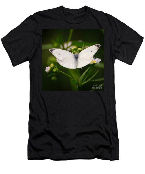 White Wings Of Wonder Men's T-Shirt (Slim Fit) by Kerri Farley