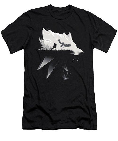 White Wolf - Minimalist Men's T-Shirt (Athletic Fit)