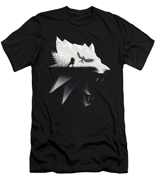 White Wolf - Minimalist Men's T-Shirt (Athletic Fit)
