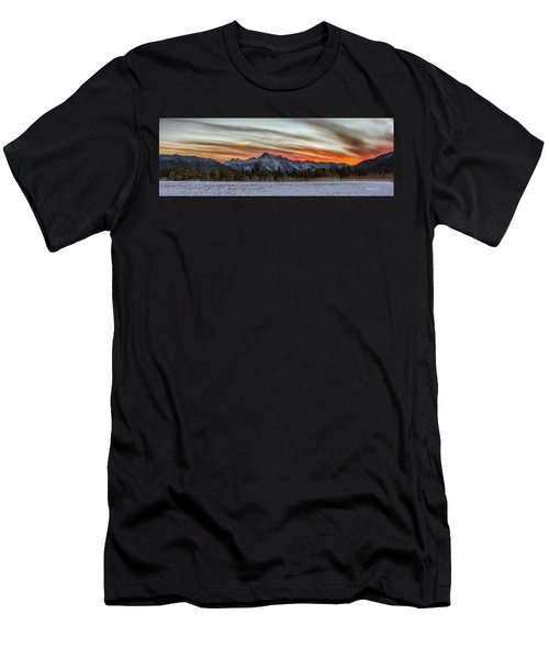 Whitehorse Sunset Panorama Men's T-Shirt (Athletic Fit)