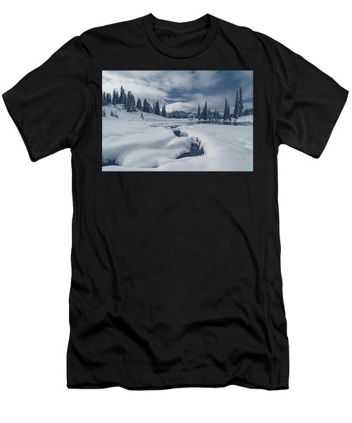 Men's T-Shirt (Athletic Fit) featuring the photograph Whiteout by Gene Garnace