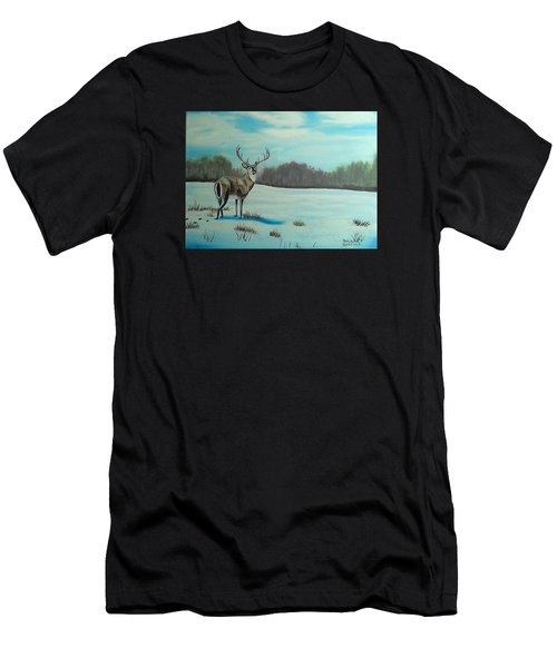 Whitetail Buck Men's T-Shirt (Athletic Fit)