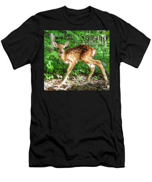 Whitetail Fawn Men's T-Shirt (Athletic Fit)