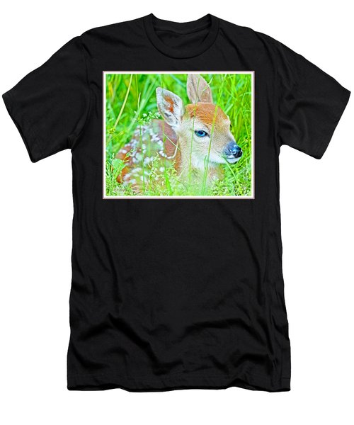 Whitetailed Deer Fawn Men's T-Shirt (Athletic Fit)