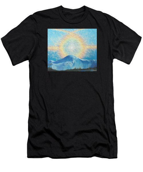 Who Makes The Clouds His Chariot Fire Rainbow Over Alberta Peak Men's T-Shirt (Athletic Fit)
