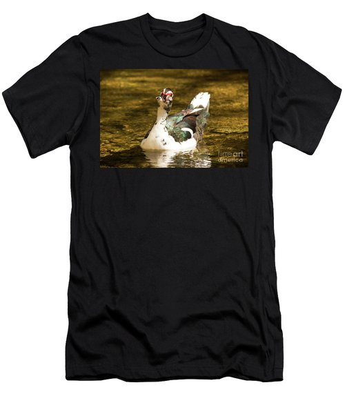 Who Me Wildlife Art By Kaylyn Franks Men's T-Shirt (Athletic Fit)