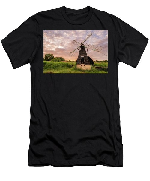 Wicken Wind-pump At Sunset II Men's T-Shirt (Athletic Fit)