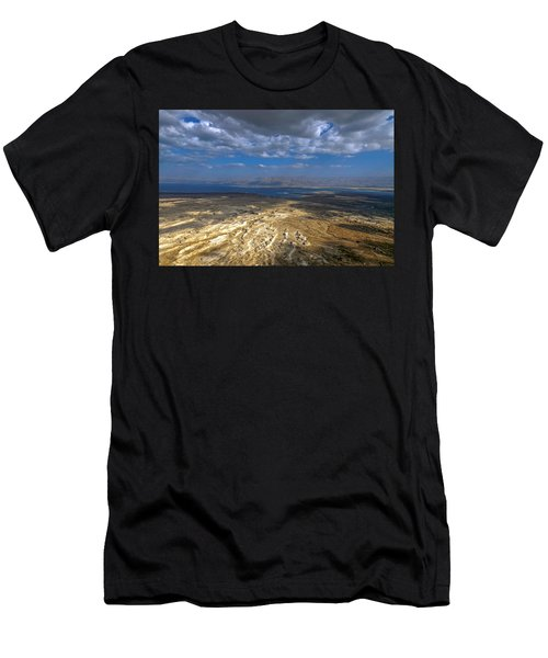 Wide View From Masada Men's T-Shirt (Athletic Fit)