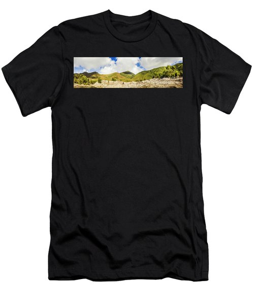 Wide West Coast Of Tasmania Men's T-Shirt (Athletic Fit)