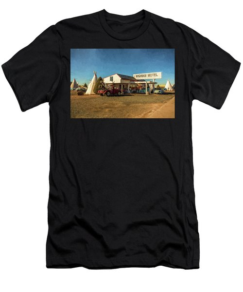 Wigwam Motel Men's T-Shirt (Athletic Fit)