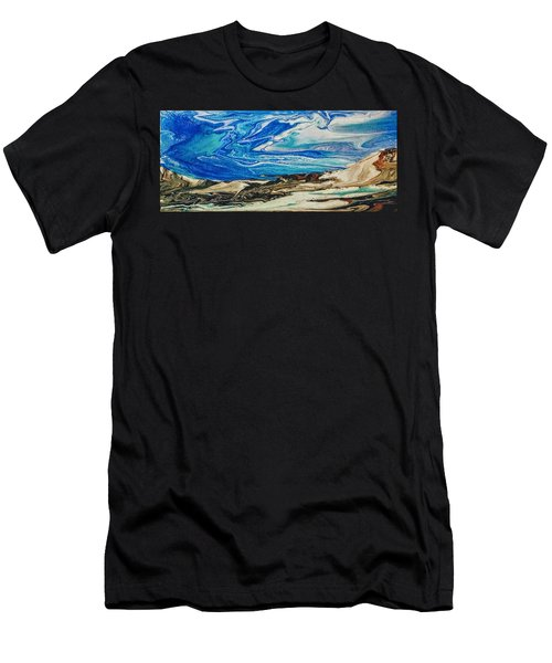 Wiinter At The Beach Men's T-Shirt (Athletic Fit)